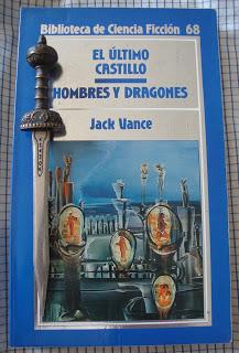 Portada del libro Hombres y dragones, de Jack Vance